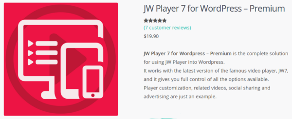 Go to JW Player 7 for WordPress - Premium!