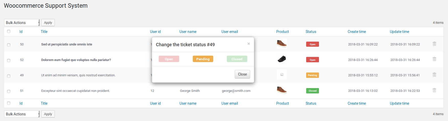 WooCommerce Support System - 4